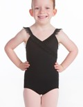 suffolk 2058 ruffle surplice front leotard