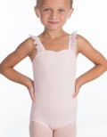 suffolk 2059 pinch front flutter sleeve leotard