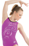gk elite 3757 whispering swirl gymnastics tank leotard