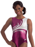 gk elite 3711 sangria blush gymnastics tank leotard
