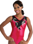 gk elite 3731 blazing cherry gymnastics tank leotard