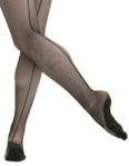capezio 3400 professional fishnet tights with seams