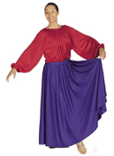 eurotard 13778 single panel liturgical circle skirt