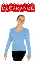 Eurotard 72517 Adult V-Neck Ballet Sweater - CLEARANCE