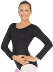 Eurotard 44265P Plus Size Microfiber Long Sleeve Leotard
