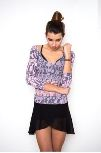 amb design 2311 long sleeve sheer top graffiti collection