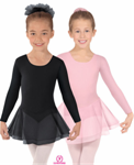 eurotard 10465 child long sleeve leotard with double layer chiffon skirt