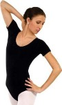 Eurotard 10475 Adult Cotton / Lycra Short Sleeve Leotard
