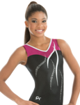 gk elite 3694 sweetheart ribbon gymnastics tank leotard
