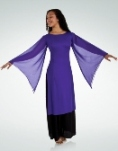 body wrappers 537 mid-calf length tunic pullover