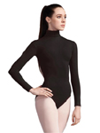 capezio tb41 team basics adult turtleneck long sleeve leotard