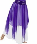 eurotard 39768c child chiffon single layered handkerchief skirt or overlay