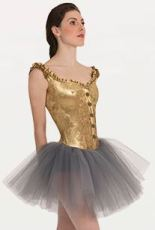 body wrappers p9000 adult tutu with metallic panne velvet
