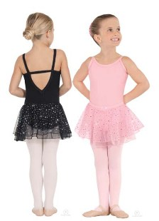 eurotard 0205 sparkle child cotton lycra camisole leotard with sequined tulle skirt
