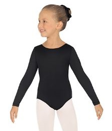 eurotard 10408 cotton lycra child long sleeve leotard