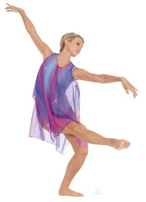 eurotard 13848c child draped tunic with gathered neckline