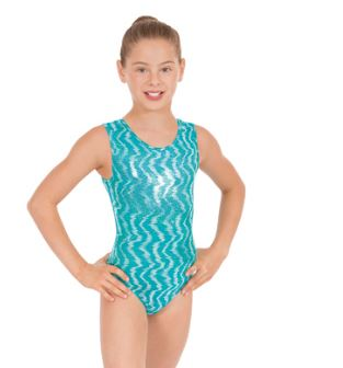 eurotard 3215c child holographic waves leotard