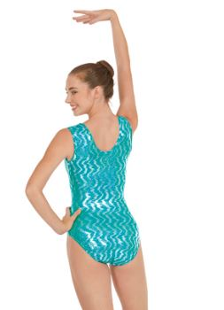 eurotard 3215a hologra[hic leotard medium center