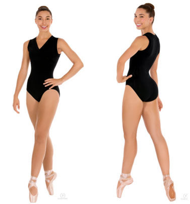 eurotard 33794 wrap front leotard front back
