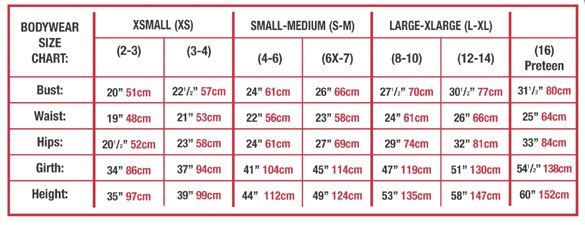 body wrappers p733 long mock turtleneck dance dress sizing chart