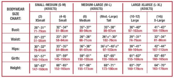 body wrappers p1040 tiler peck dotted yoke leotard adult sizing chart