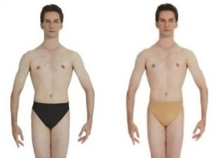capezio N26 men's thong color swatch