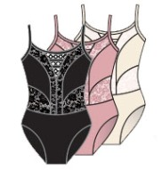 body wrappers p1101 child camisole sweetheart lace leotard color swatch