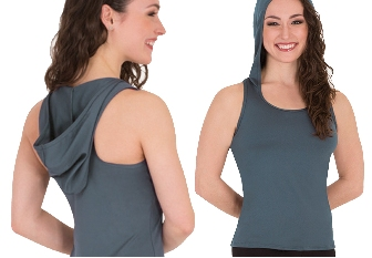 body wrappers mt221 racerback hoodie tank pullover