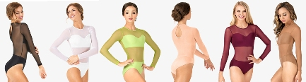 body wrappers nl200 competition leotard with power mesh