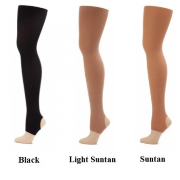 capezio ultra soft n145 adult stirrup tights color swatch