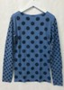 amb 6010-127 grunge polka dot raw edge top cashmere blue color swatch
