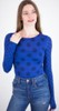 amb 6010-127 grunge polka dot raw edge top navy peony color swatch