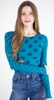 amb 6010-127 grunge polka dot raw edge top shaded teal color swatch