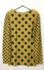 amb 6010-127 grunge polka dot raw edge toasted mustard color swatch