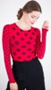 amb 6010-127 grunge polka dot raw edge true red color swatch