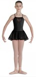 bl cr7921 girls heart mesh skirt black color swatch