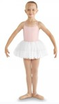 bl cr8111 girls fluffy heart mesh tutu white color swatch