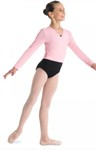 bl cz5407 girls cambre crossover cardigan candy pink color swatch