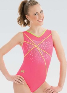 gk elite 3751 watermelon crush gymnastics leotard center