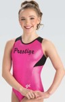 gk elite 3776 branded mesh racerback gymnastics leotard berry swatch