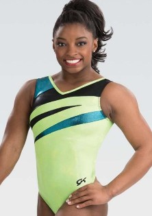 gk elite 3800 neon opel gymnastics tank leotard center