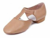 bloch es0410l ladies elastosplit greecian teaching shoes tan color swatch