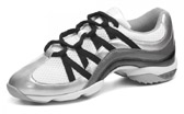 bloch s0523l ladies wave dance sneaker silver color swatch