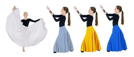 eurotard 13674 child simplicity triple panel skirt color swatch 2