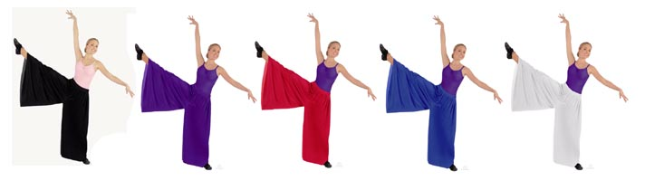 eurotard 13696 simplicity palazzo pants color swatch