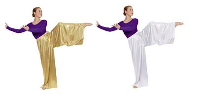 eurotard 14691 wide leg metallic palazzo pants