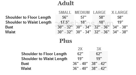 eurotard 24114 majestic paneled dress sizing chart