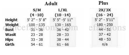 eurotard 24788 unisex majestic vest sizing chart