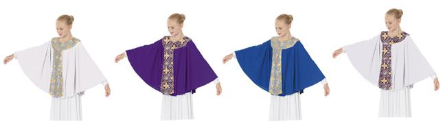 eurotard 81117c child tabernacle praise cape color swatch