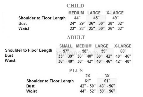 eurotard 81119 tabernacle praise dress sizing chart
